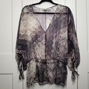 New York and company sheer blouse